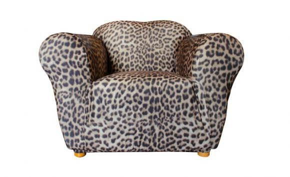 One Seater Leopard Print Sofa Cover By Sure Fit Couch