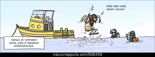 Jeesus ei läpäissyt sukelluskurssia