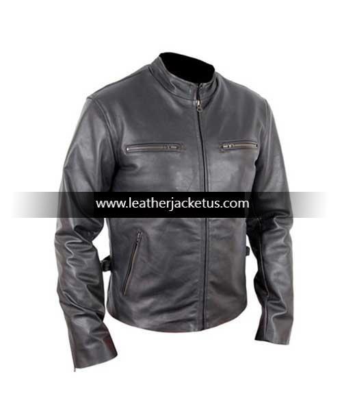 Men's Slim Fit 6 Pocket black Leather Jacket http://leatherjacketus.com/product/mens-slim-fit-6-pocket-black-leather-jacket/