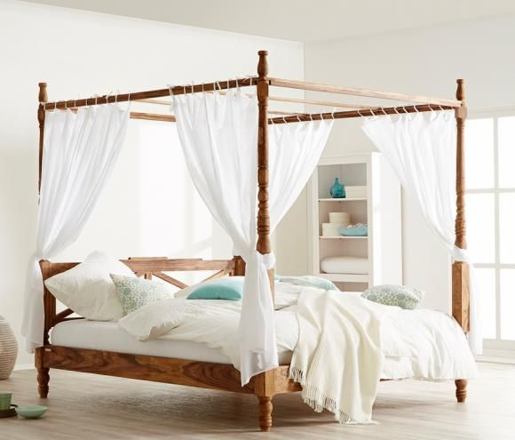 Himmelbetten - Moderne Modelle aus Holz und Metall Himmelbett