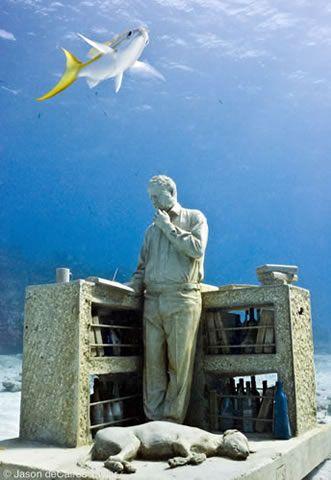 El Coleccionista De Sueños Dream Collector Depth M Cancun - Europes first ever underwater museum is full of hyperrealistic human sculptures