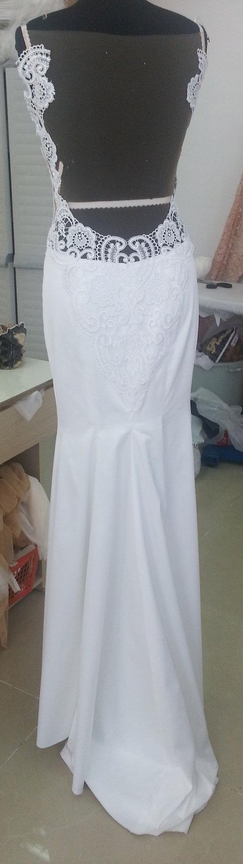 Wedding dress wedding dress material