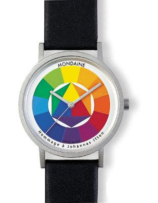 Mondaine Spectrum Watch Homage To Johannes Itten Black