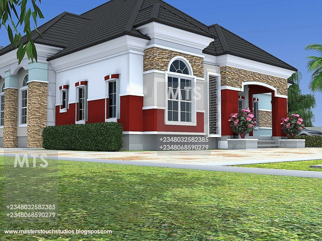House Plans In Nigeria Fresh Mr Chukwudi 5 Bedroom Bungalow Modern And Contemporary Bungalow House Plans Bungalow Style House Plans Bungalow House Floor Plans