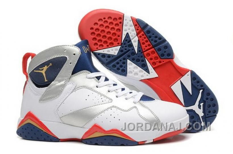 1b38892b382647 COUPON FOR NIKE AIR JORDAN VII 7 RETRO MENS SHOES WHITE BLACK BLUE RED NEW  Only  90.00