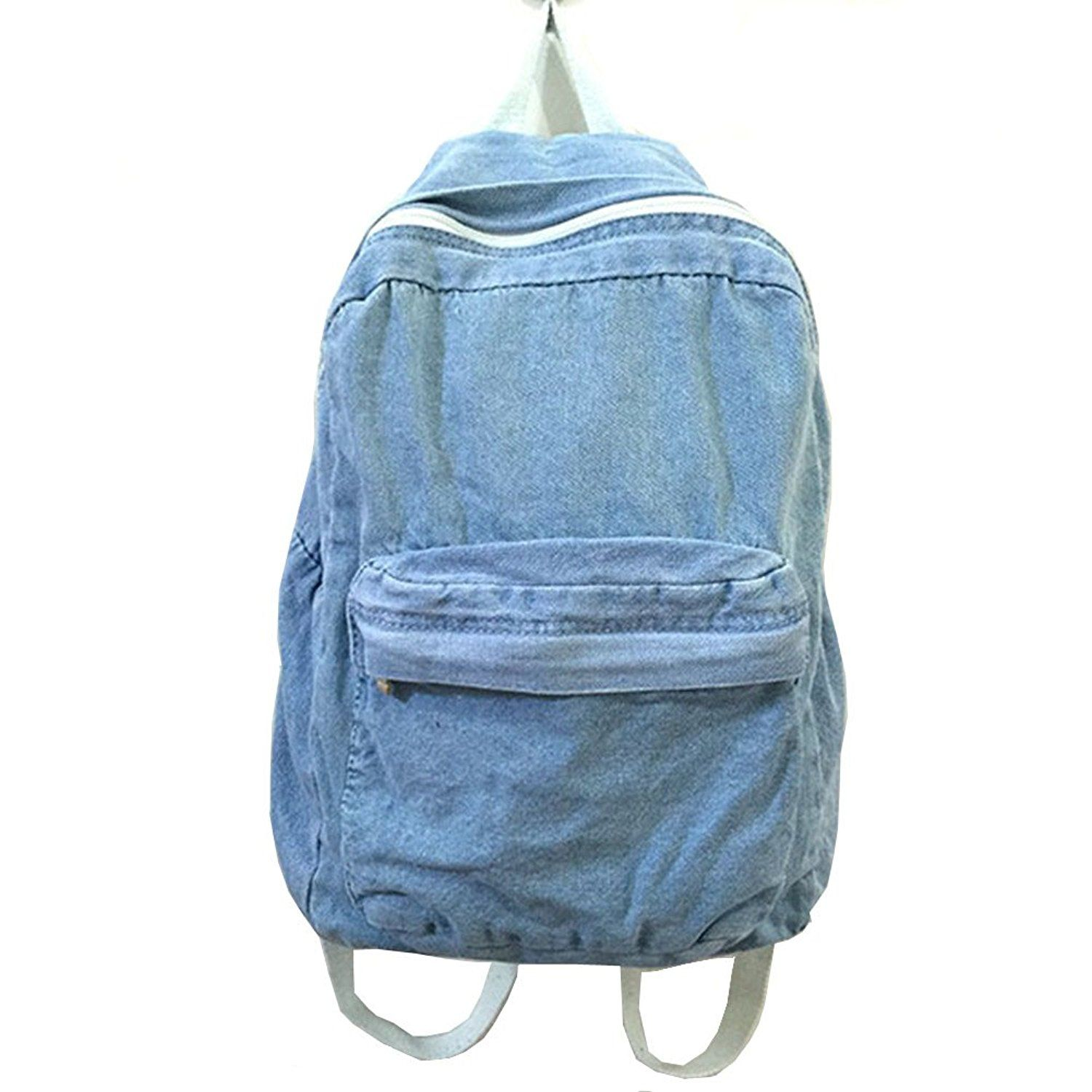 Backpacks for Women and Men, MiCoolker Classic Vintage Denim Bookbags School Bag College Jeans Backpack -- Click on the image for additional details.