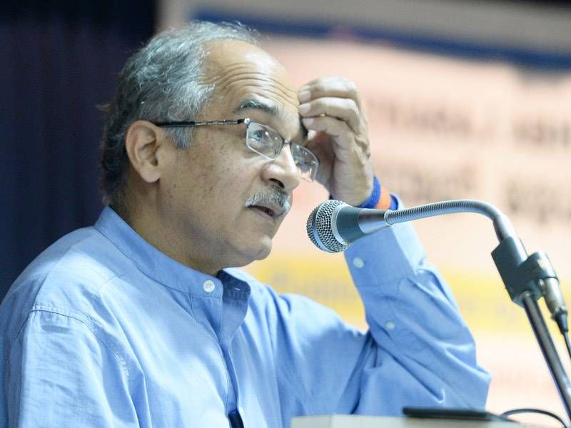 """Hindu organisations are up in arms against Swaraj Abhiyan founder Prashant Bhushan after he said he opposed anti-Romeo squads as they violated the spirit of love and had questioned if the Uttar Pradesh government would even harass Lord Krishna, whom he termed a """"legendary eve teaser""""."""