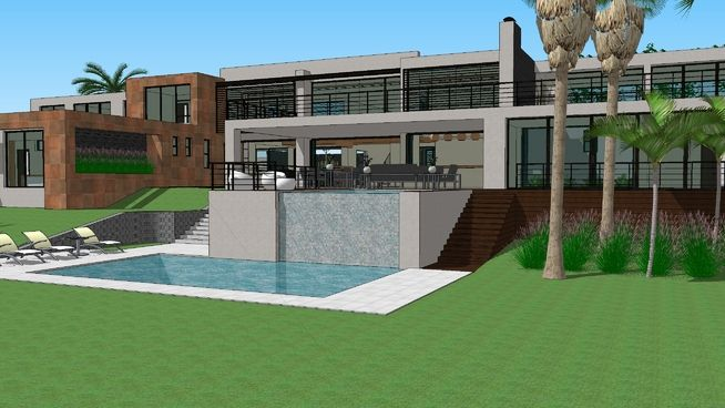 Casa moderna 3d warehouse houses pools house styles for Casa moderna warehouse