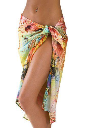 39b01d7422ae5 Hawaiian Print Swimsuit Sarong Cover Up | Style | Hawaiian print ...