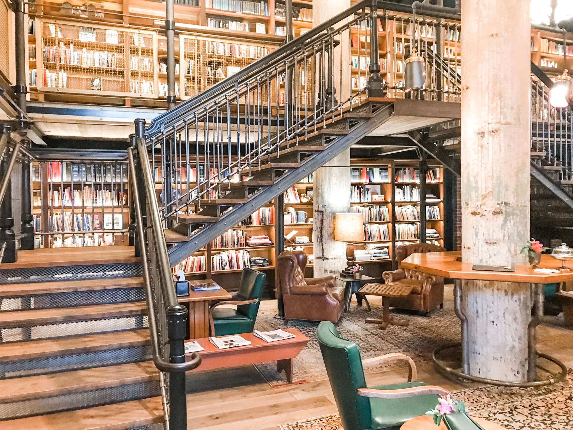 Library Life Inside The Hotel Emma In San Antonio Home Library Design Scandinavian Style Home Home Library
