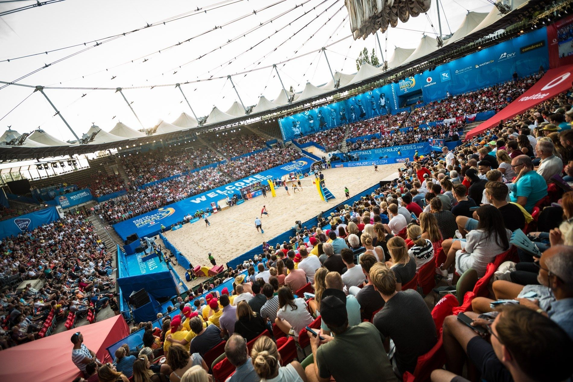 The Iconic Rothenbaum Stadium Will Host The 2019 Beach Volleyball World Championships In 2020 World Championship Sports Arena Beach Volleyball
