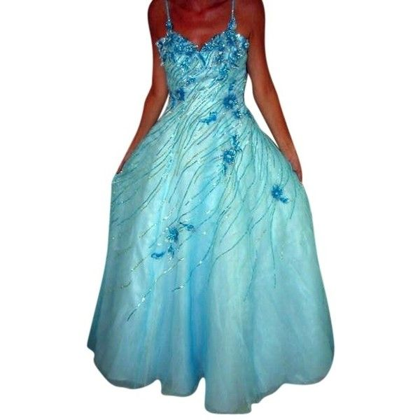 Pre-owned Sky Blue Pageant Evening Gown Bridesmaid Wedding Prom ...