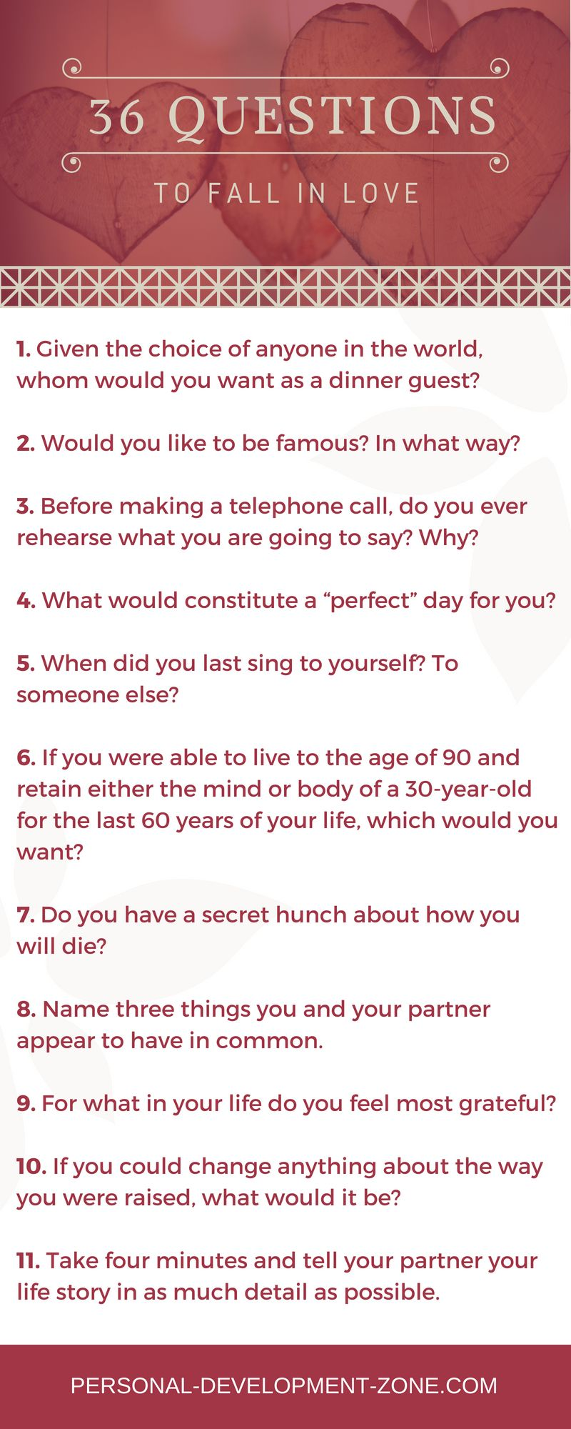 Nytimes 36 questions to fall in love