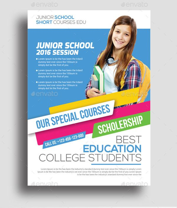 Junior Education Flyer Design  Education Leaflet