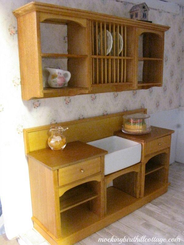 Kitchen Sink Area Source Mockingbird Hill Cottage Miniatures