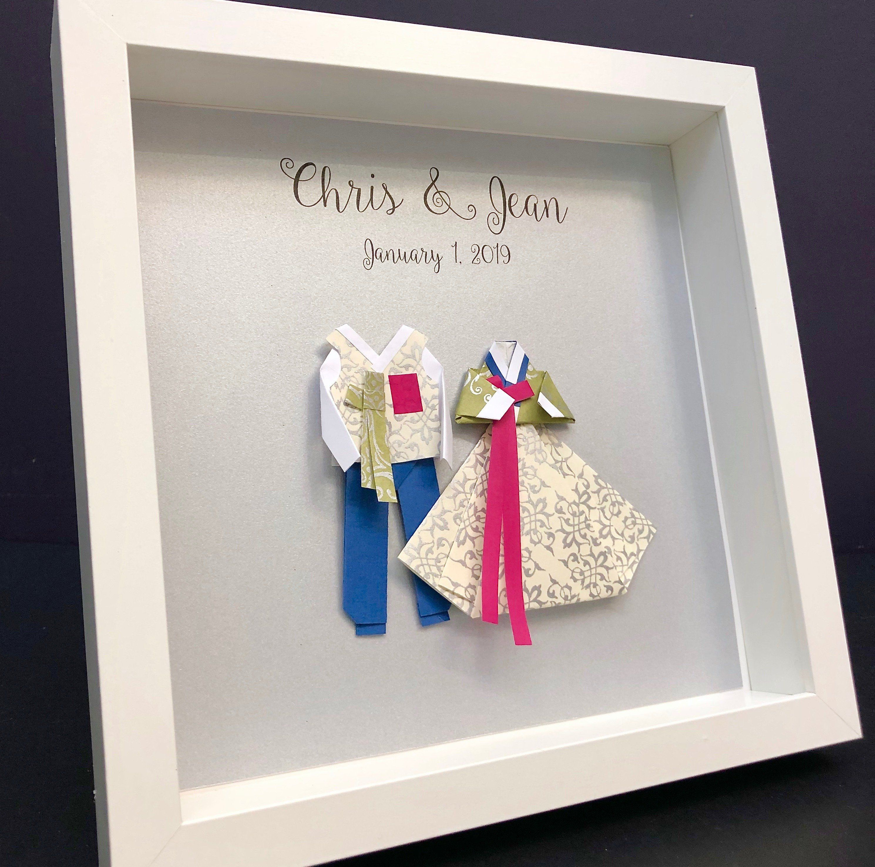 Personalized Korean Hanbok Gift, Wedding And First