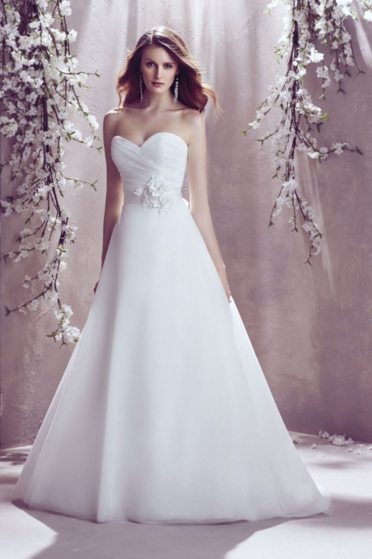 A Line Sweetheart Pleat White Ivory Wedding Dress | Ivory wedding ...