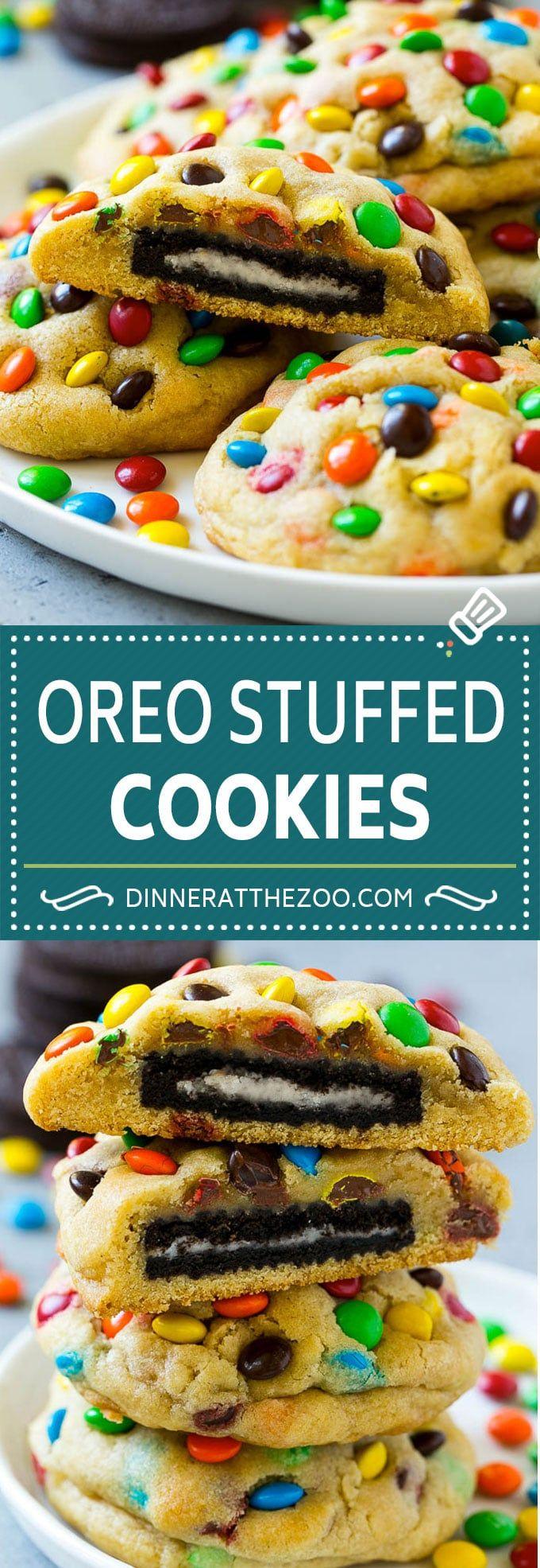 Oreo Stuffed Cookies Oreo Stuffed Cookies Recipe  MMs cookies  Stuffed Cookies