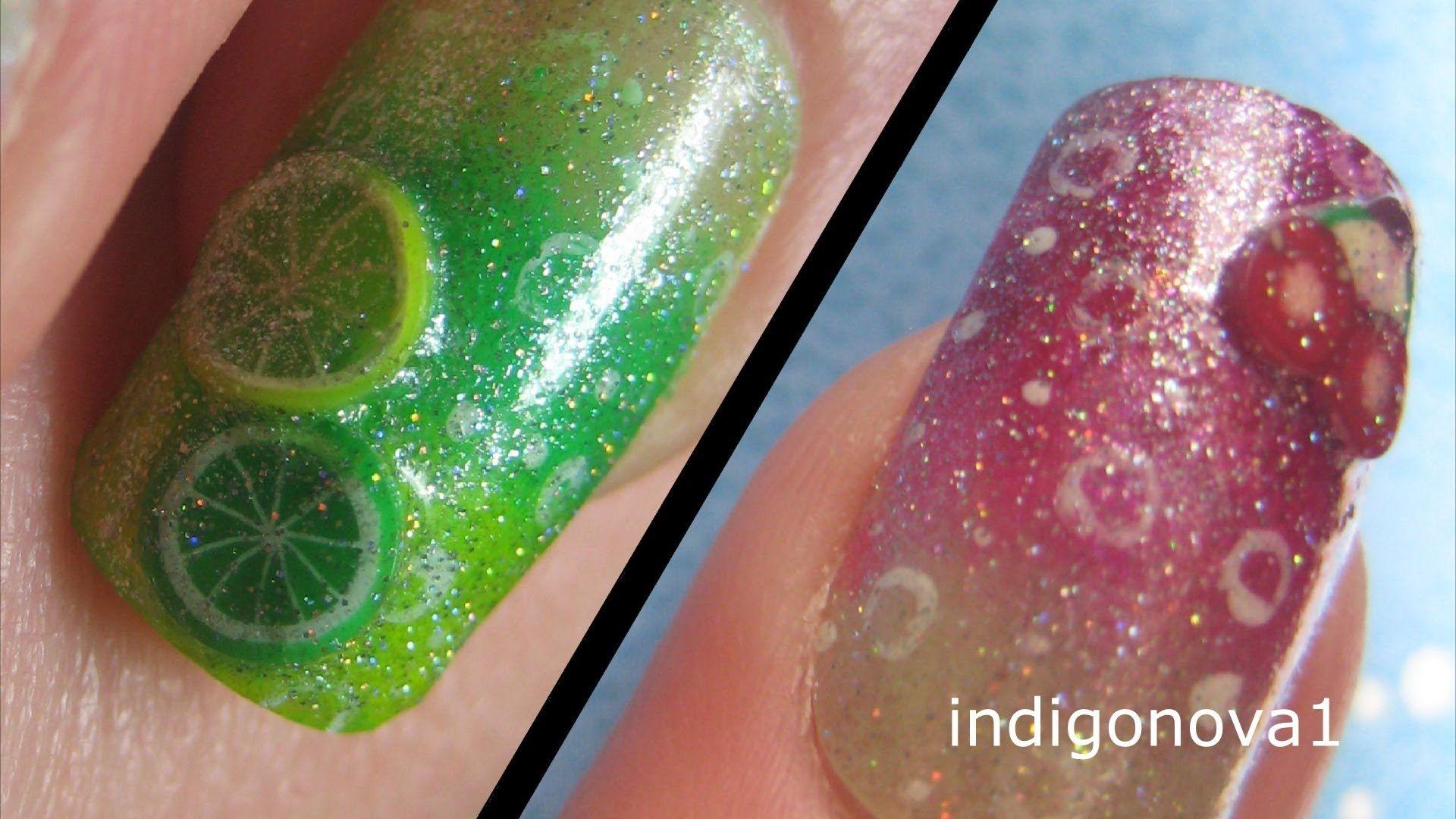Cherryade & Lemonade Summer Fimo Fruit Nail Art Tutorial | My ...