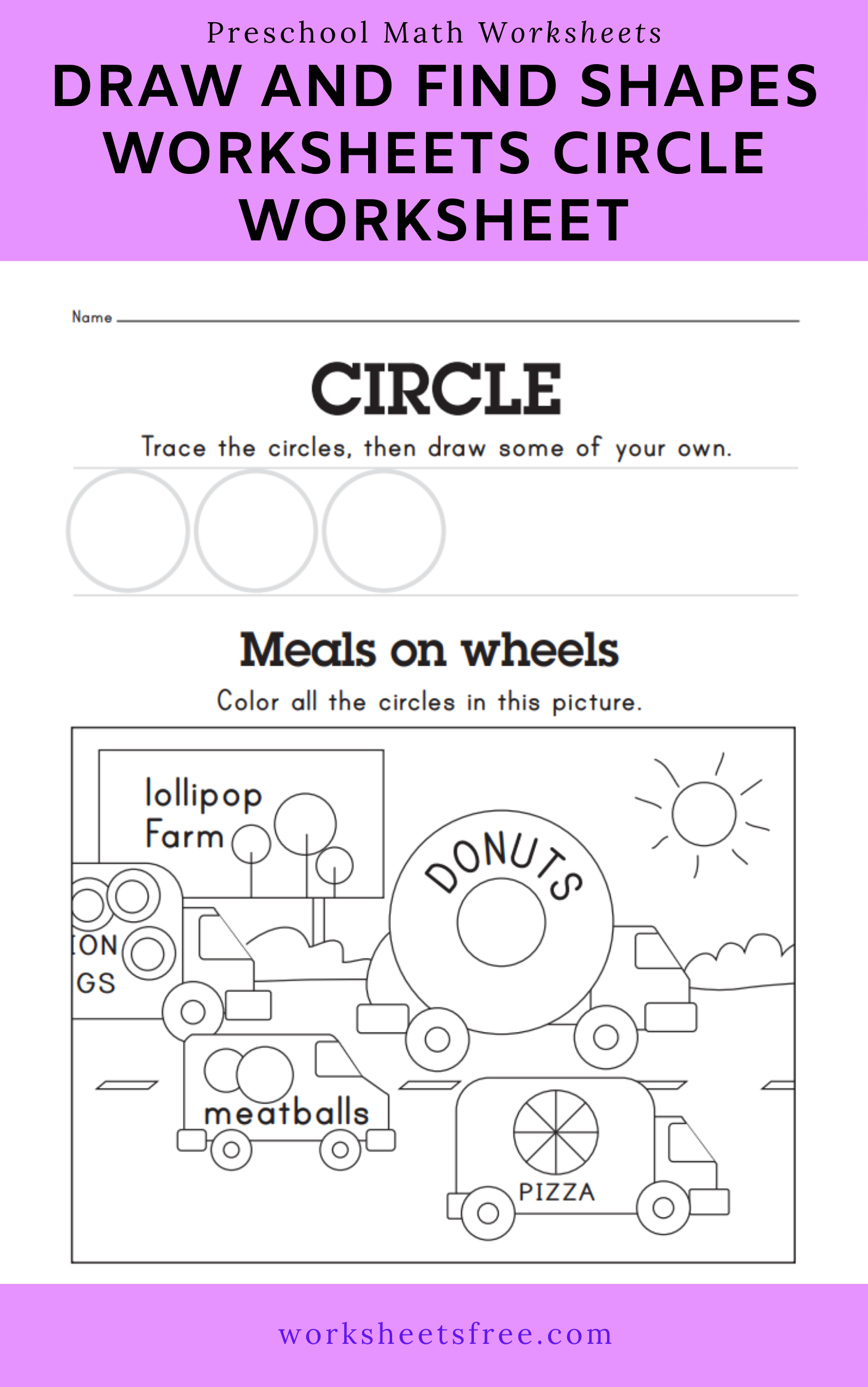 21 Circle Worksheets For Preschoolers Coloring Style