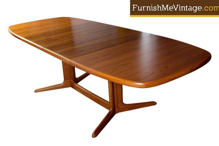 Mid Century Modern Danish Teak Dining Table By Skovby In