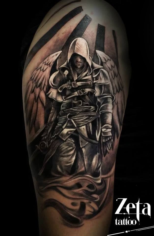 03f8735e7 Zeta tattoo Archangel Michael, Portrait, Tattoos, Warrior Angel, Tat, Tattoo ,