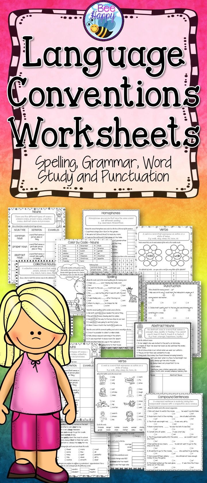 Language Conventions Worksheets Test Preparation Australian