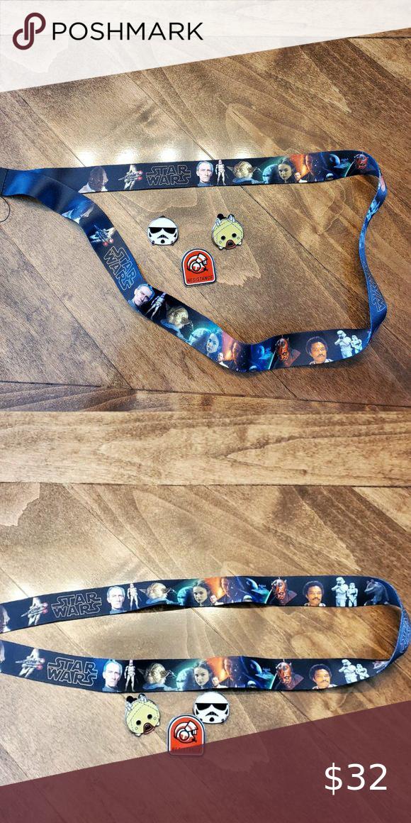 Disney Star Wars Lanyard & 3 Pin Bundle