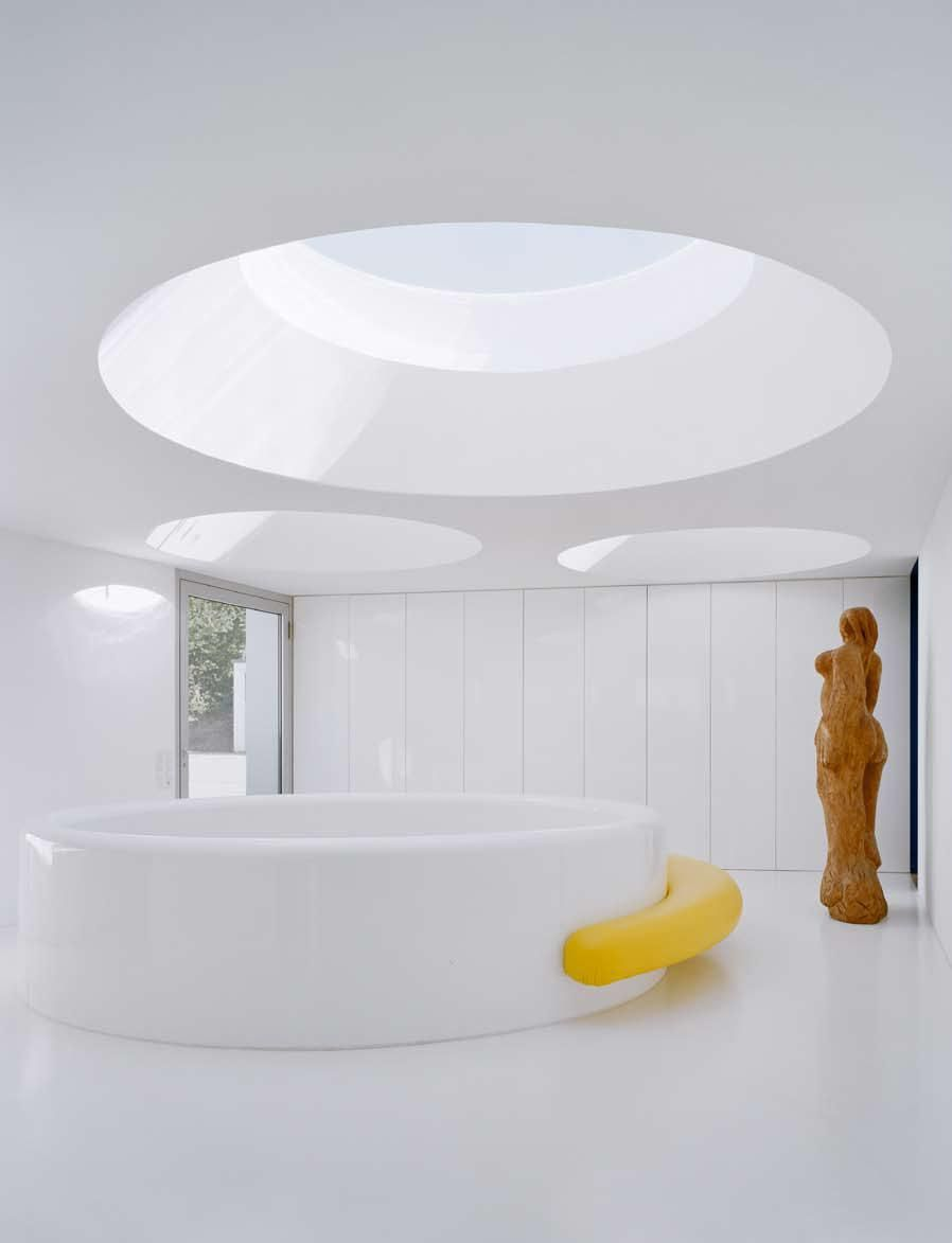 House design round - Round Skylights Illuminate House Design Interior Innovation
