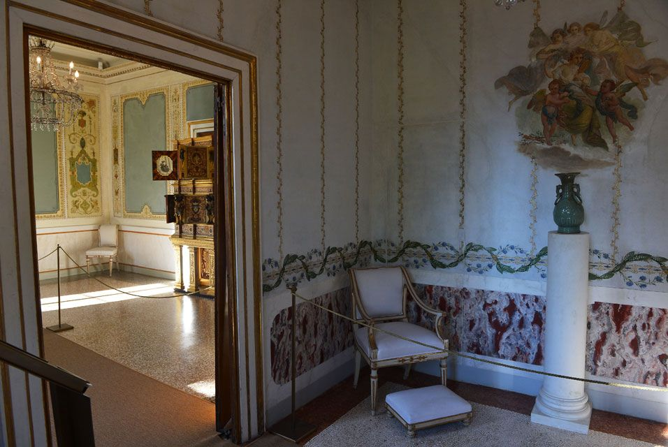 VENICE.- This picture shows a view of the Empress study room in the Imperial apartments of the Royal Palace at the Correr museum in Venice.The rooms reserved to the Princess Sissi in the Imperial Apartments of the Royal Palace in Venice, in St Mark's Square, are opening to the public after a restauration of nine spaces. AFP PHOTO / VINCENZO PINTO.