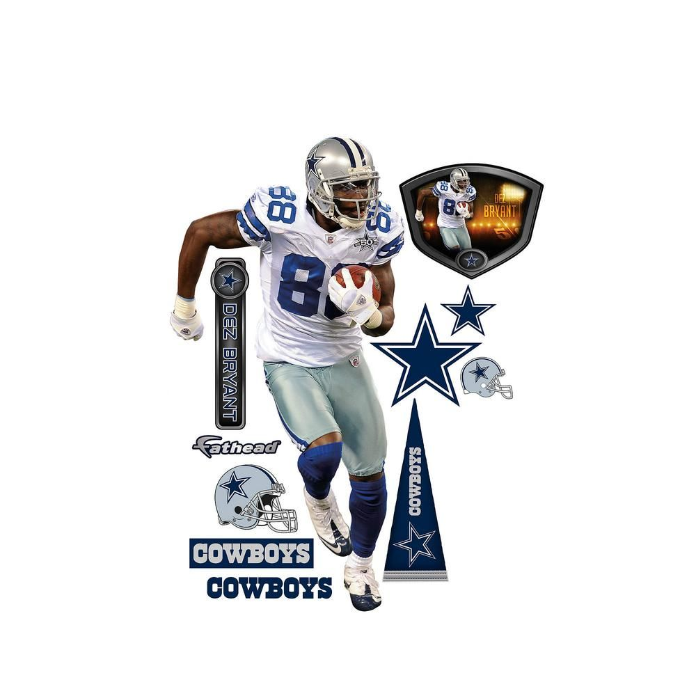 78 in. H x 39 in. W Dez Bryant - Wide Reciever Wall Mural #dezbryant