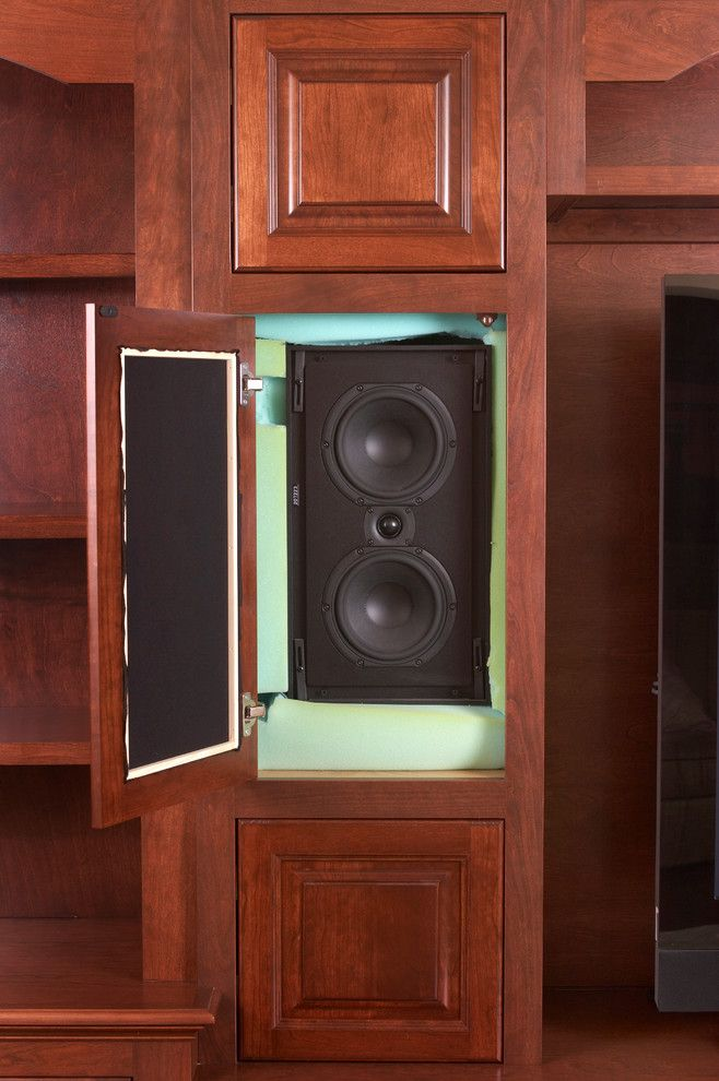 Hidden Speakers Living Room Traditional With Speakers In Wall In .