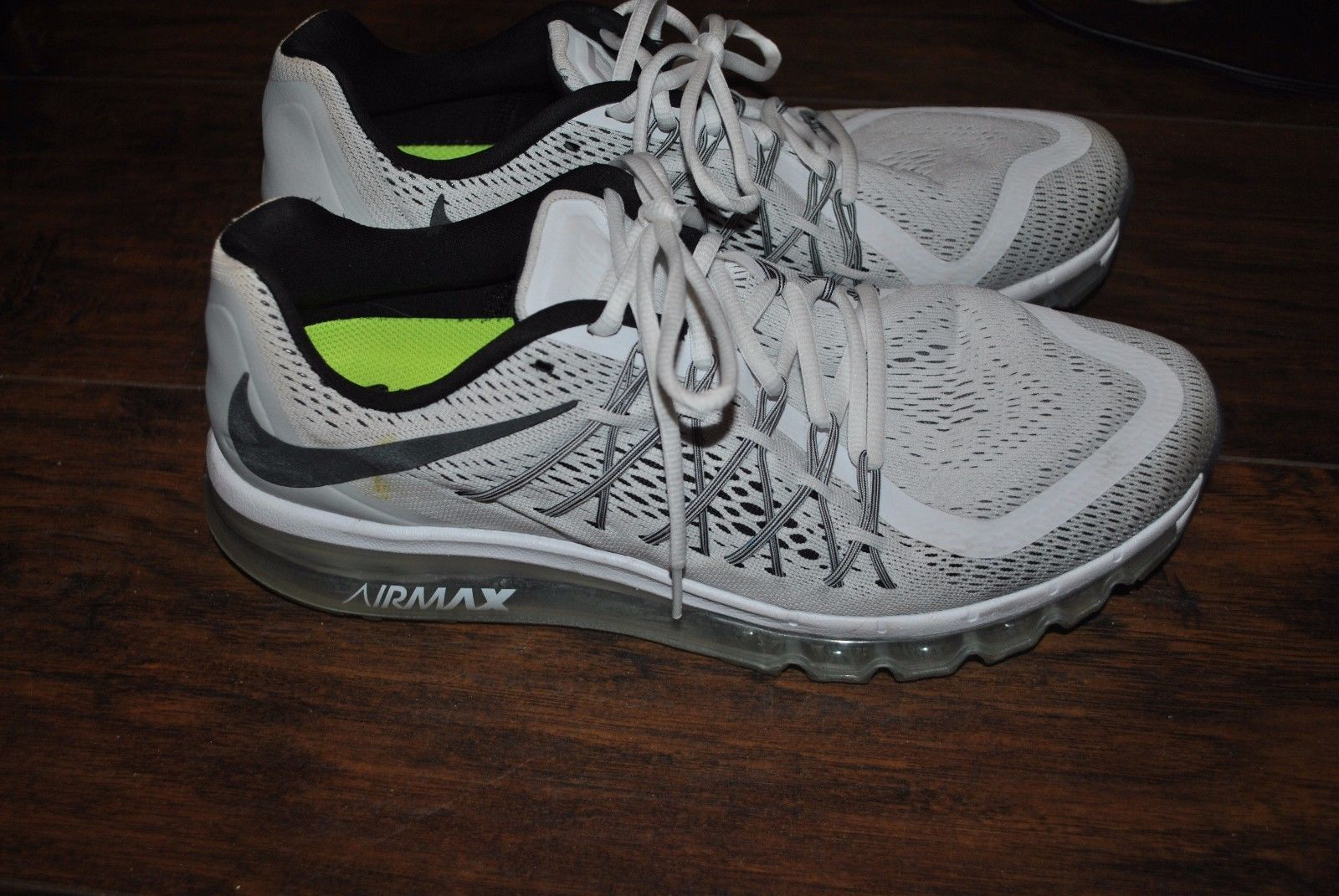 cbbc03dfa2d  Men  Shoes Nike Air Max 2015 Men s Shoes White Black 698902-101 SIZE 11.5   Men  Shoes