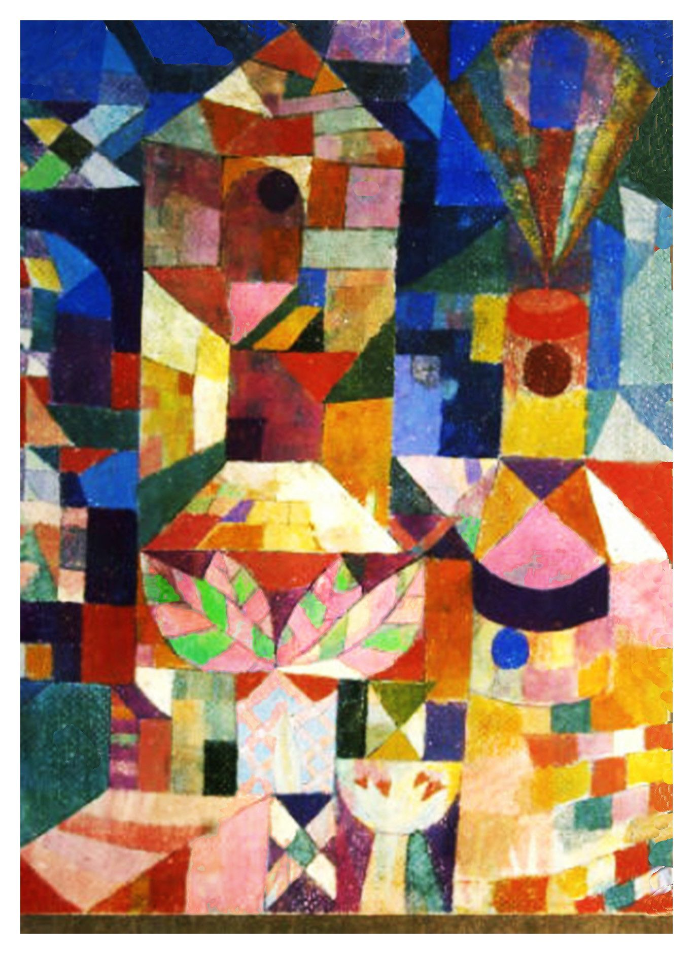 Orenco Originals Dream City in Blue Expressionist Artist Paul Klee Counted Cross Stitch Pattern