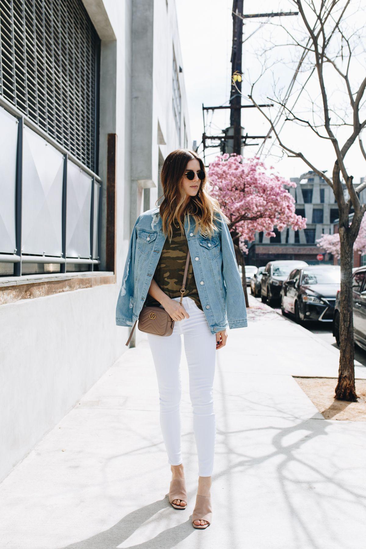 Jean Jacket, White Jeans