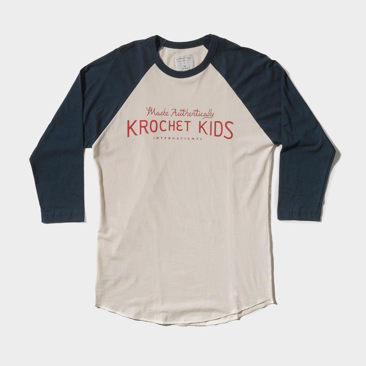 Made Authentically Baseball Tee Krochet Kids intl