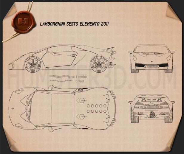 lamborghini sesto elemento blueprint - buscar con google