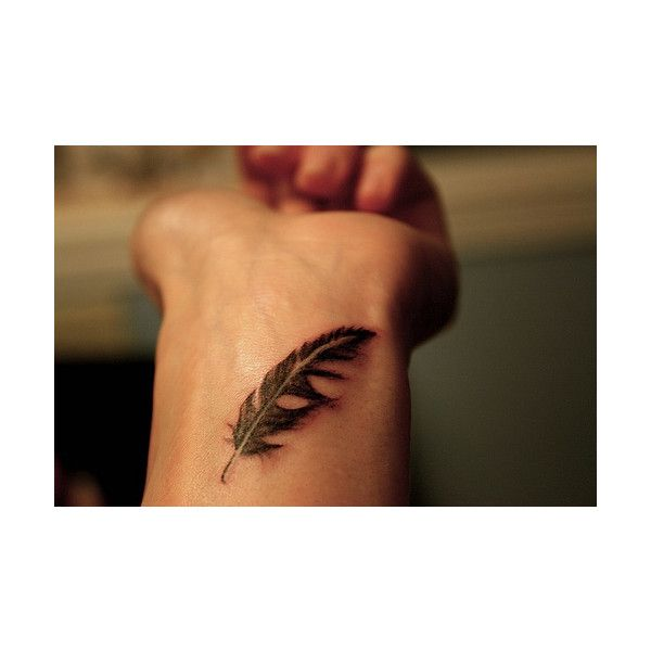 Feather Bracelet Tattoo On Wrist For Men: Feather, Tattoo, Wrist Found On Polyvore
