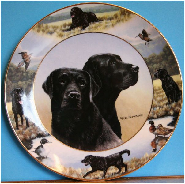 Loyal Labs Labrador Plate by Franklin Mint Painted by Nigel Hemmings on eBid United Kingdom £15.00 or Make an Offer