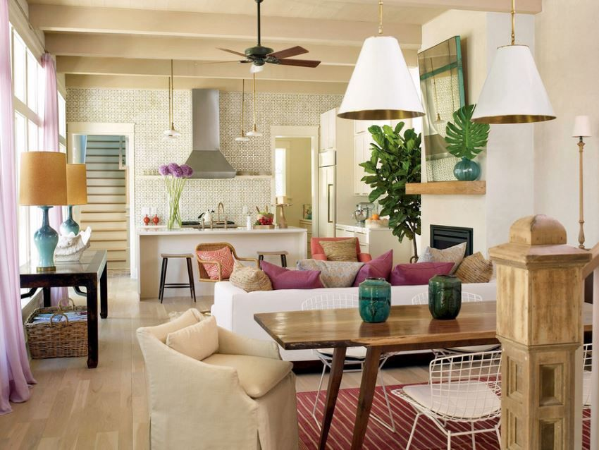 Modern Eclectic Tropical Living Room