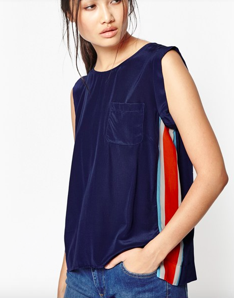 French connection, olympic silk top £51