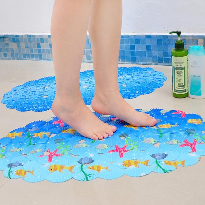 Cartoon Non Slip Bath Mats Small Fish Pattern Anti Slip Mats For
