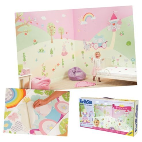 FunToSee Fairy Tale Princess Wall Stickers Room Make Over Kit Part 64