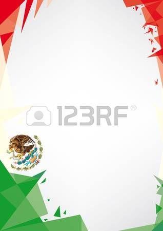bandera de mexico: un diseño de estilo de fondo Origami por un muy ...