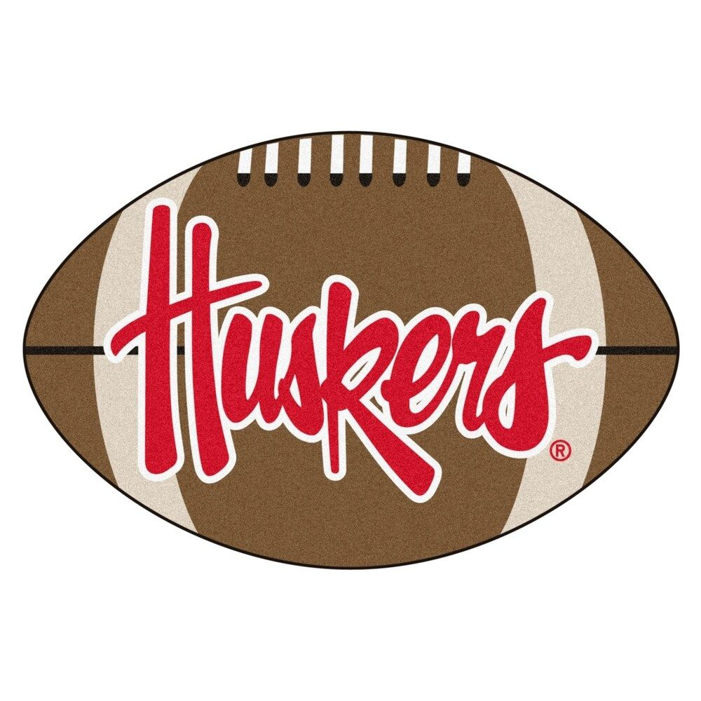 "University of Nebraska Corn Huskers Football Mat 20.5""x32"