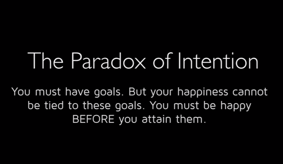 Paradox of intention