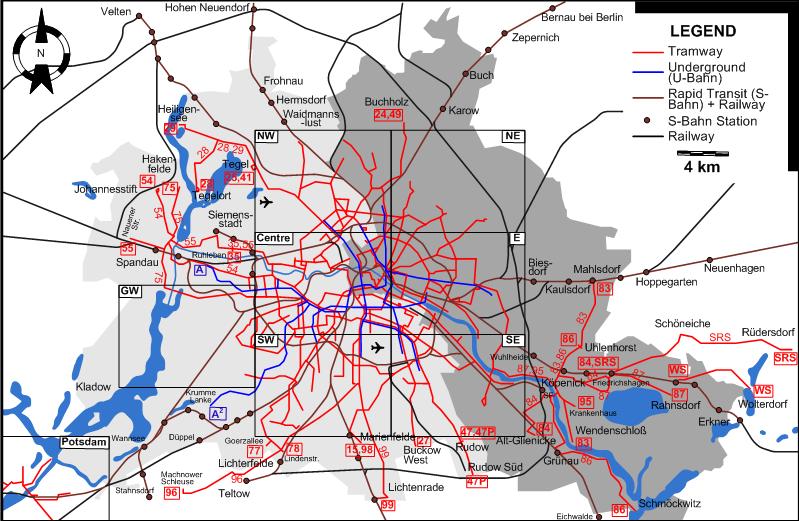 Straßenbahnlinien Berlin