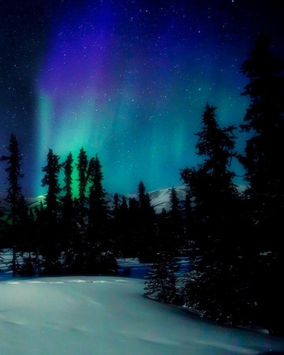 Northern Lights Aurora Borealis Night by AroundTheGlobeImages