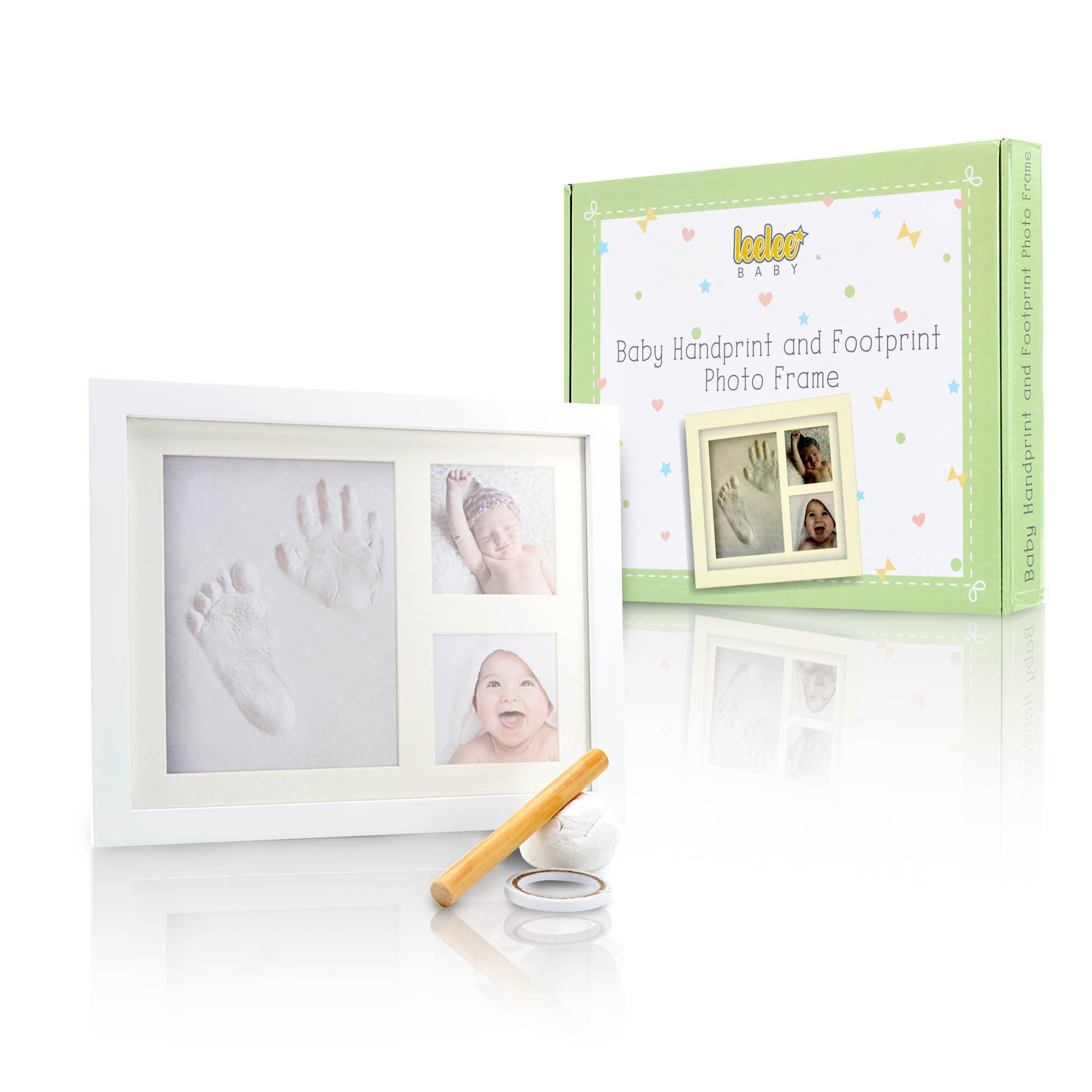 Baby Handprint & Footprint Picture Frame Kit by LeeLee Baby - Cute ...