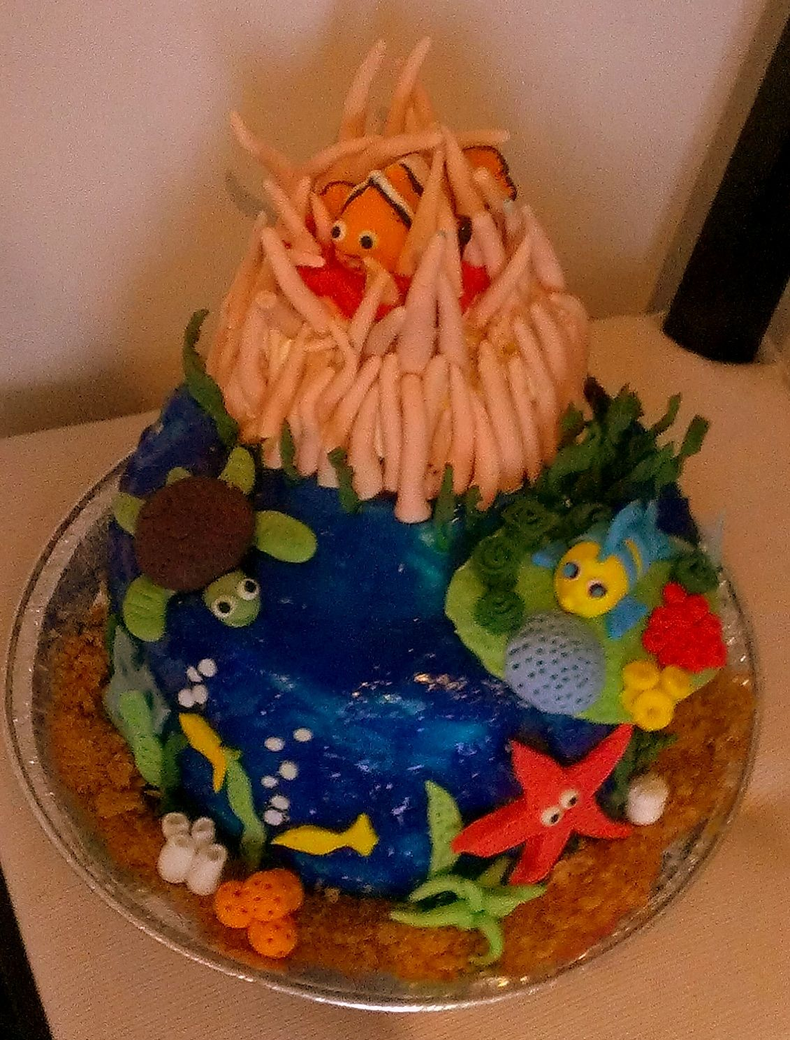 Under The Sea Cake Nemo Cake Flounder Fish Coral Reef - Nemo fish birthday cake